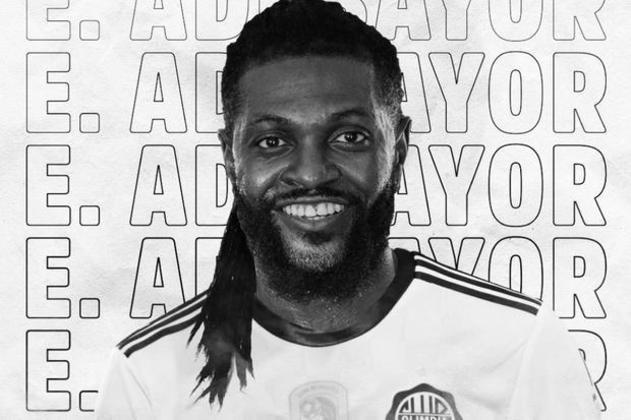 ESQUENTOU: O empresário Daniel Machado garantiu que o atacante togolês Emmanuel Adebayor irá retornar para o Olímpia após a crise do coronavírus.