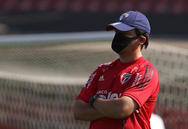ESQUENTOU – Parte da torcida do São Paulo está insatisfeita com o trabalho realizado pelo técnico Fernando Diniz. Depois da derrota para o Vasco, alguns deles protestaram contra o treinador e também Raí, que é diretor executivo de futebol. No entanto, o clube pretende dar continuidade ao trabalho de Diniz.