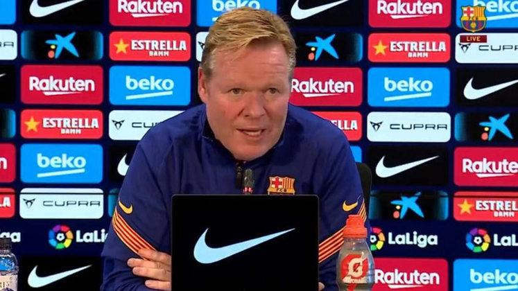 ESQUENTOU - Pressionado no Barcelona, Ronald Koeman diz que não pensa em sair do Barcelona neste momento pois o ambiente com os jogadores é muito bom. Caso ele perca o vestiário, ai sim o holandês pensaria em concluir o seu trabalho no Barcelona.