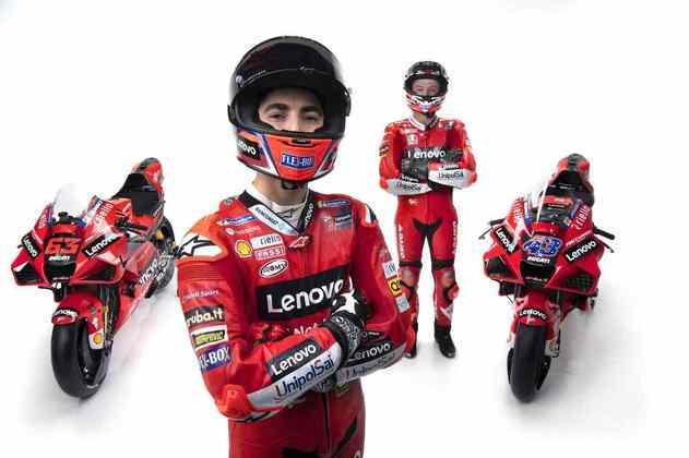 Essa é a terceiraa temporada de Bagnaia na MotoGP