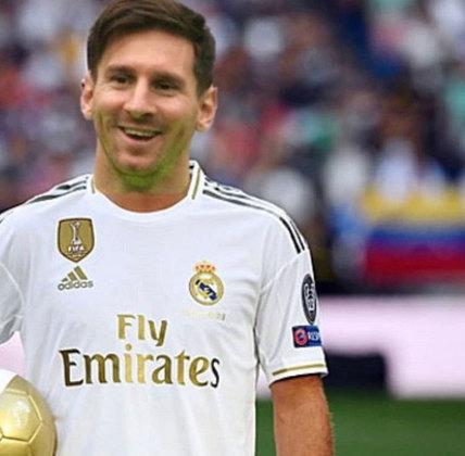 Essa é quase uma imagem proibida. Lionel Messi indo para o Real Madrid?