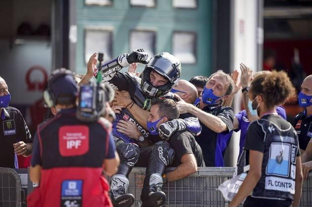 Essa foi a única vitória da equipe de fábrica da Yamaha, sendo também a última aparição do espanhol no pódio