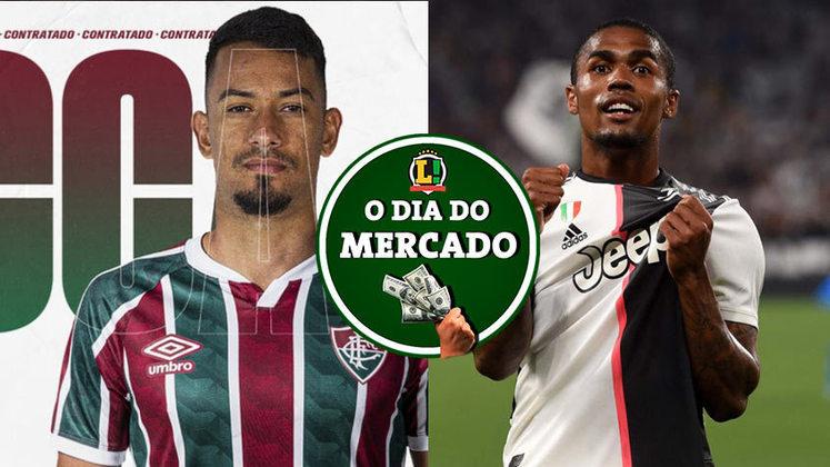 Essa quarta-feira foi repleta de movimentações no mercado da bola. Entre as novidades, estão a chegada de novo atacante no Fluminense e a recusa de Douglas Costa em jogar na Inglaterra. Veja essas e outras movimentações do mercado da bola.