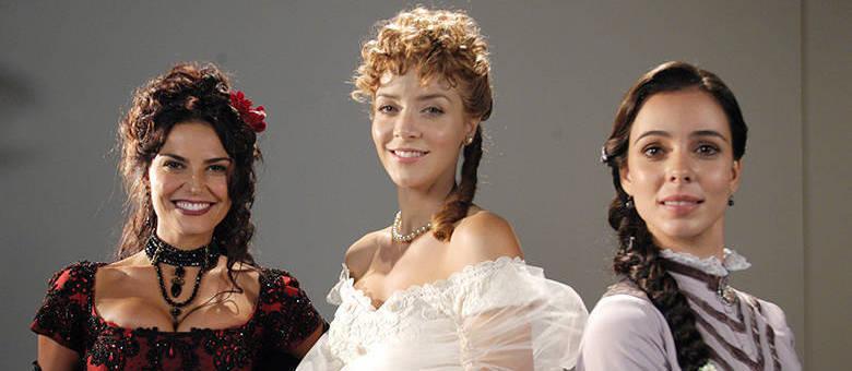 Glória/Lúcia (Carla Regina), Aurélia (Christine Fernandes) e Mila (Miriam Freeland)
