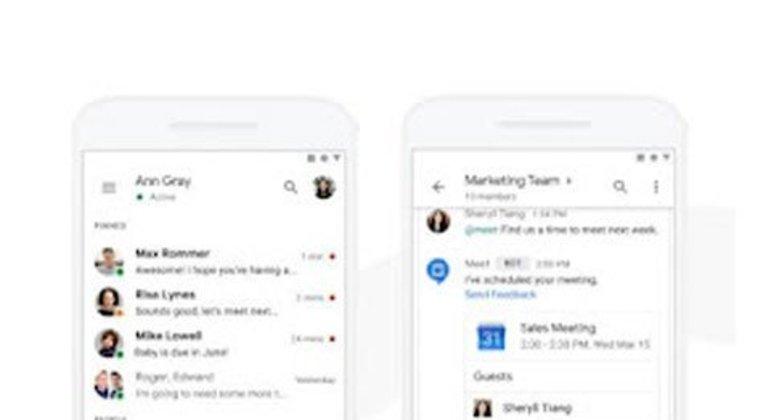 Esse aplicativo do Google lançado em 2018 traz conversas e total integração com documentos Google, trazendo facilidades para reuniões.
