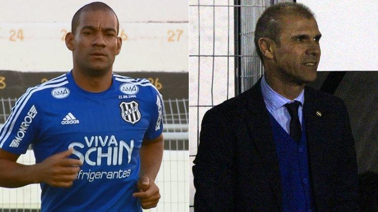 Esse caso não é de briga entre jogadores, mas sim entre técnico e um jogador. Milton Mendes e Rodrigo chegaram a trocar empurrões após um jogo do Vasco e trocaram farpas na imprensa após o acontecimento.