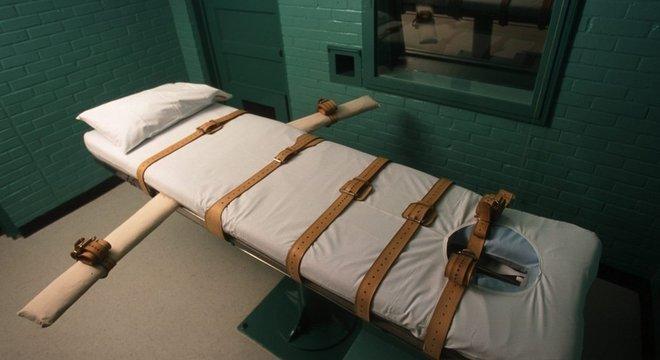 Esta é uma câmara de execução em Huntsville, Texas