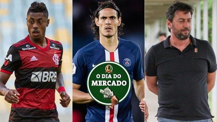 Esta quarta-feira foi de muita movimentação no mercado da bola. O Benfica não desiste de levar jogadores do Flamengo, Cavani está mais longe do futebol brasileiro e teve mudanças na diretoria do Corinthians. Veja essas e outras movimentações!