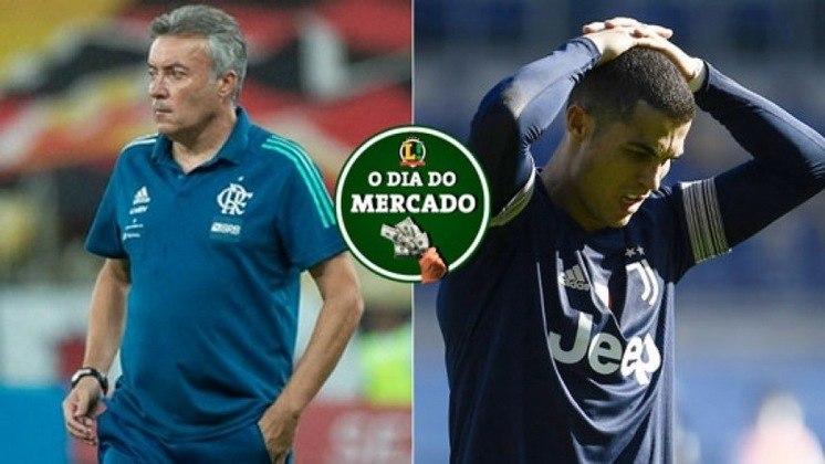 Esta segunda-feira foi de muitas movimentações no mercado da bola. O Flamengo demitiu o técnico Domènec Torrent e já mira um alvo para assumir a equipe. Na Europa, Cristiano Ronaldo pode estar de saída da Juventus. Veja essas e outras negociações do vaivém. (Por Gabriel Santos)