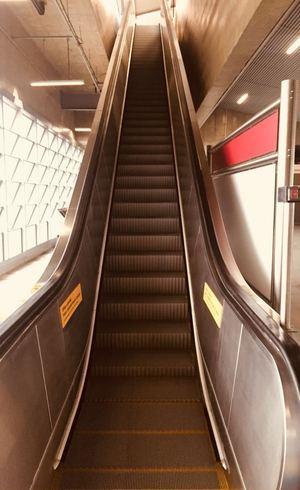 Escada rolante registra falha