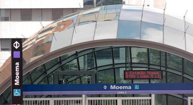Estação Moema, da linha 15-Lilás, inaugura nesta quinta-feira (5)