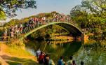 SP - CLIMA/SP - GERAL - Frequentadores aproveitam dia de sol e calor no Parque do Ibirapuera, na zona sul de São Paulo, na manhã deste domingo, 5 de setembro de 2021, véspera do feriado da Independência do Brasil, comemorado no dia 7 de setembro. 05/09/2021 - Foto: CRIS FAGA/ESTADÃO CONTEÚDO