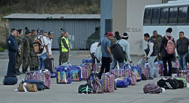 Venezuelanos chegaram a São Paulo nesta quarta-feira