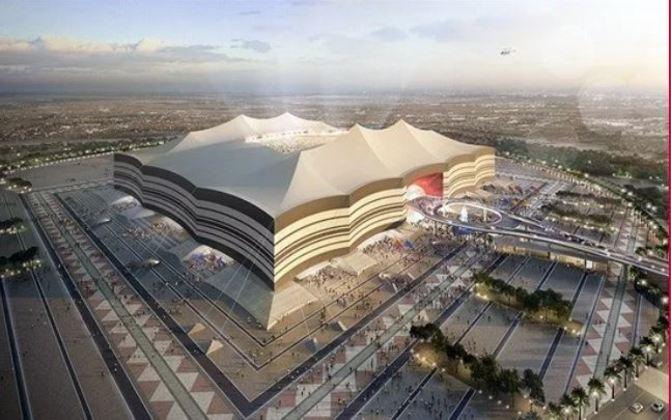 Estádio Al-Bayt: Copa do Mundo 2022 - Capacidade: 60.000- Previsão de entrega: 2022.