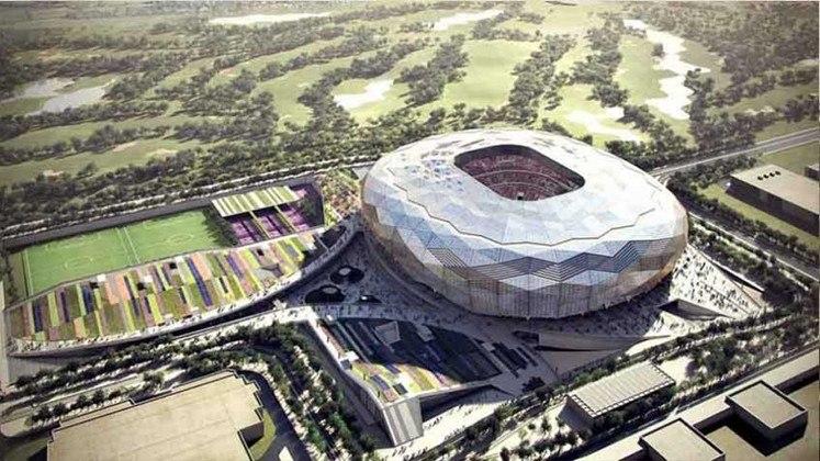 Estádio da Cidade da Educação: Copa do Mundo 2022 - Capacidade: 45.350 - Previsão de entrega: 2022.