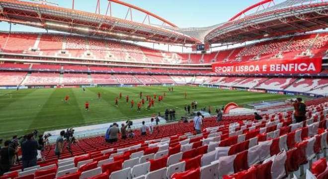O Estádio da Luz, em Lisboa, Portugal