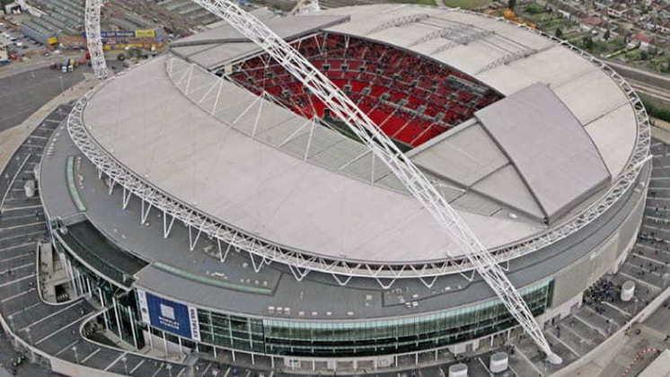 Estádio de Wembley, em Londres, na Inglaterra.