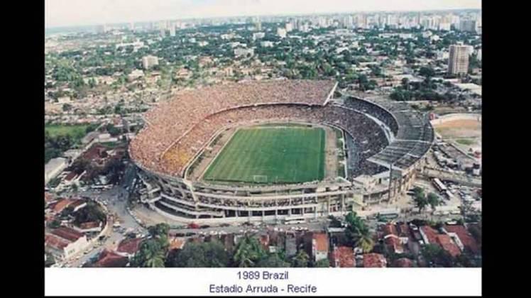 Estádio do Arruda (PE): dois jogos do Grupo A da Copa América de 1989 foram disputados em Recife. O empate entre Colômbia e Peru, por 1 a 1 e o triunfo brasileiro sobre o Paraguai, por 2 a 0.