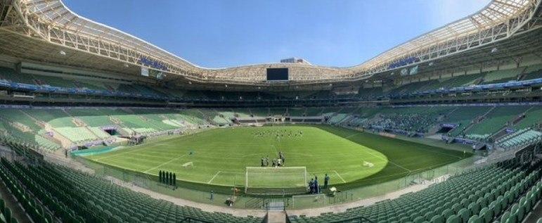 Estádio do Palmeiras como mandante: Allianz Parque.