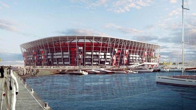 Estádio do Porto de Doha: Copa do Mundo 2022 - Capacidade: 40.000 - Previsão de entrega: 2022.