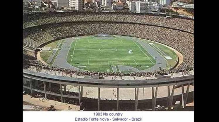 Estádio Fonte Nova (BA): sediou duas edições da Copa América: em 1983 e 1989. Em 1983, a competição não tinha sede fixa e a grande final foi realizada em Salvador. Já em 1989, a Copa foi dividida em dois grupos e o Grupo A jogou todas as partidas no nordeste. Oito foram na Fonte Nova. Ao todo, foram quatro jogos no estádio baiano, três empates e uma vitória.