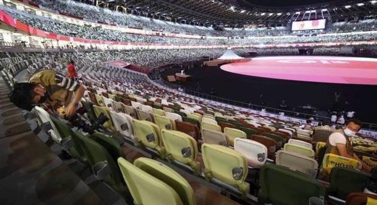 O interior do Estádio Olímpico