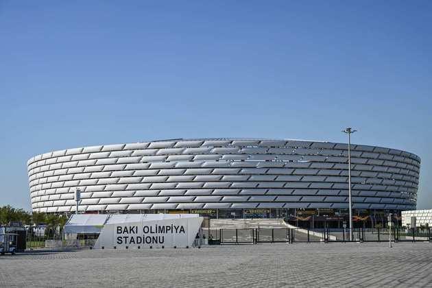 Estádio Olímpico, em Baku, no Azerbaijão.