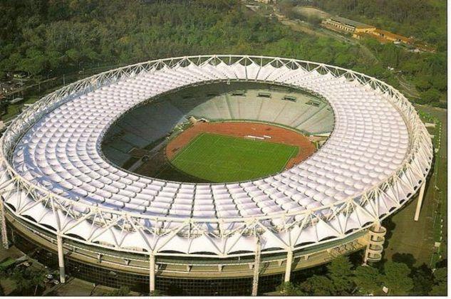 Estádio Olímpico, em Roma, na Itália.