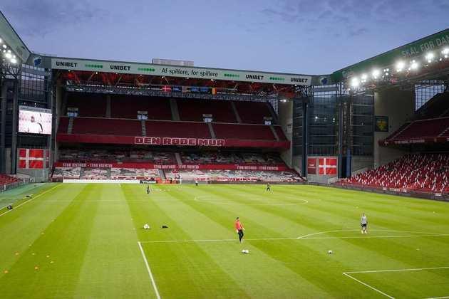 Estádio Parken, em Copenhague, na Dinamarca.