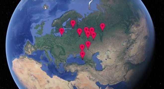 Os 12 estádio da Copa do Mundo estão espalhados por 11 cidades sede