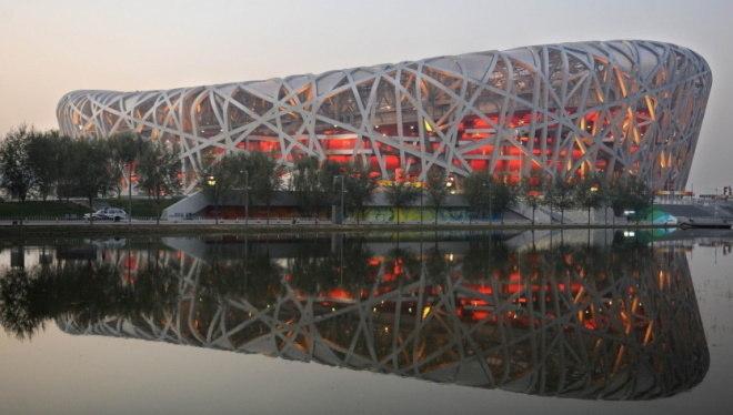 O Ninho do Pássaro, na China, foi sede das Olimpíadas de 2008. Sua forma é inspirada justamente, como diz o nome, em ninhos de pássaros, que são considerados como iguarias da culinária chinesa