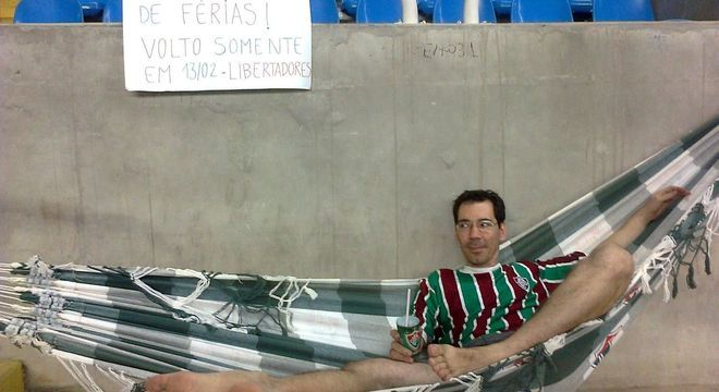 A ironia do torcedor, em pleno Maracanã, durante o Campeonato Carioca