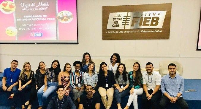 Grupo do programa de estágio do IEL (Instituto Euvaldo Lodi)