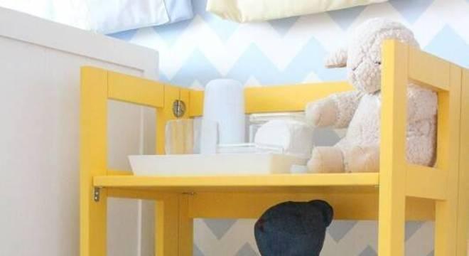 estante baixa colorida quarto de bebe codecorar