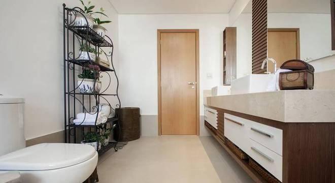 estante de ferro banheiro arquitetura