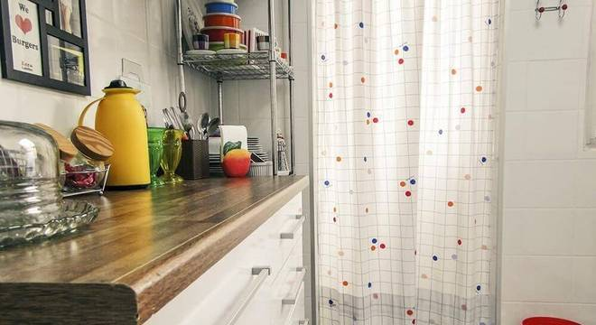 estante metal bancada cozinha casa aberta