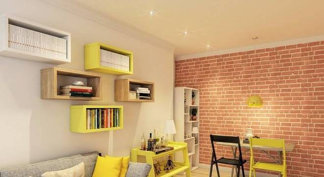 estante nicho e decorativa sala de estar leroy