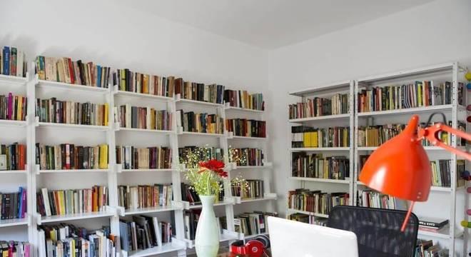 estantes de parede biblioteca home office buji
