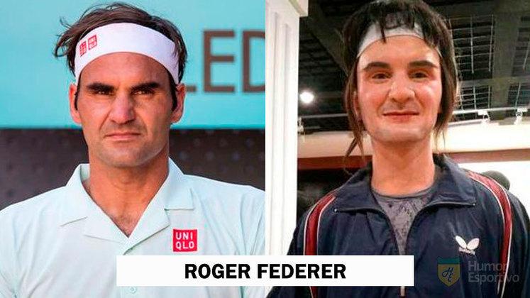 Estátua de cera de Roger Federer foi comparada a uma idosa