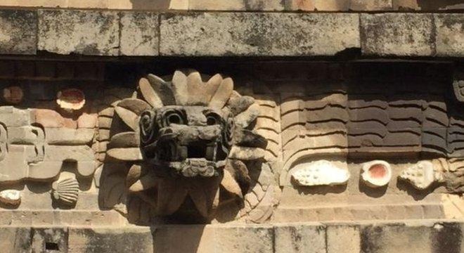 Quetzalcoatl ou serpente emplumada era uma das divindades mais importantes da Mesoamérica
