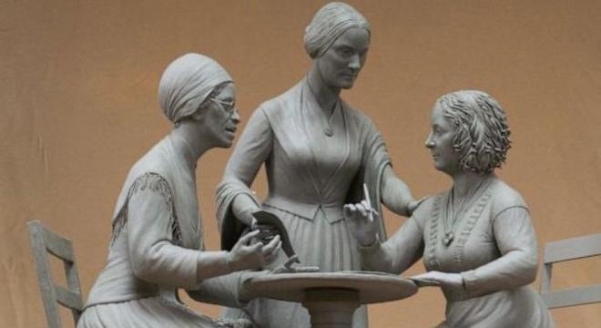 Estátua das mulheres no Central Park