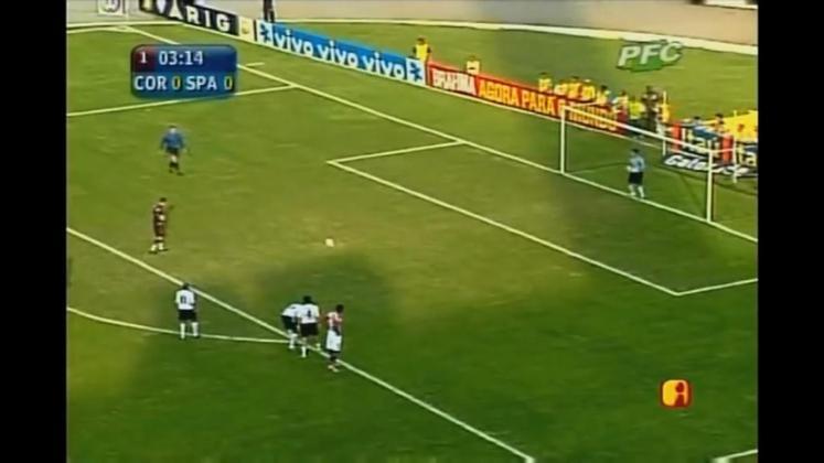 Este foi o primeiro gol de Rogério Ceni em um Majestoso. O Mito bateu no canto direito do goleiro Tiago, que pulou para o outro lado.