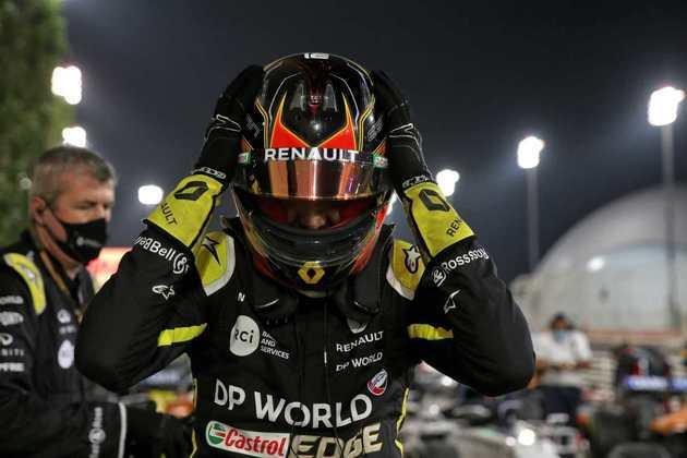 Esteban Ocon, da Renault, foi ao pódio no GP de Sakhir.