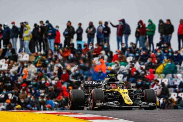 Esteban Ocon teve bom desempenho e pontuou em Portimão, conquistando um bom oitavo lugar