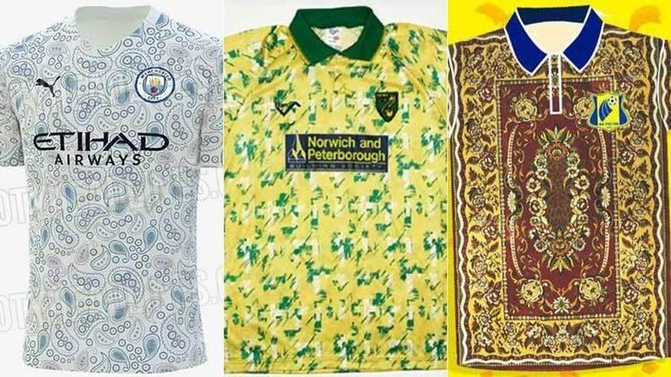 Estilos, cores, estampas e modelos diferentes. Muitas ideias de camisas acabam virando peças bem ruins e viram motivo de piadas. Por isso, o LANCE! listou as camisas mais estranhas de clubes mundiais na história.