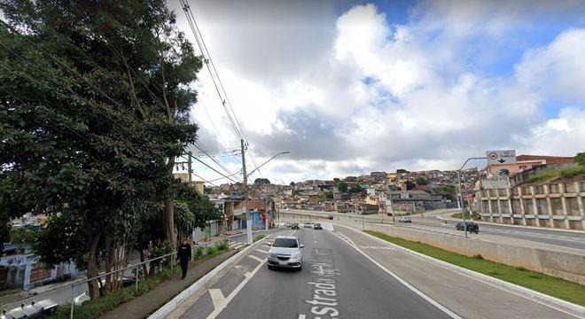 Estrada do M'Boi Mirim, onde o veículo foi parado pela polícia