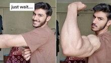 Estudante é comparado a Popeye após exibir braço muito musculoso