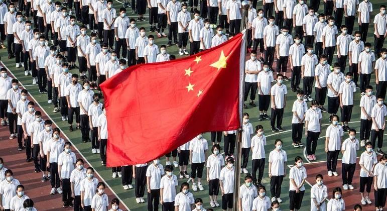 Estudantes chineses voltaram às aulas no dia 1º de setembro