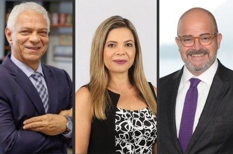 Alexandre Belmonte, Noemia Porto e  Luiz Guilherme Migliora estarão no 'Estúdio News'