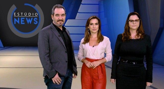 Christian de Castro, da Ancine, a apresentadora Tainá Falcão e Carla Albuquerque